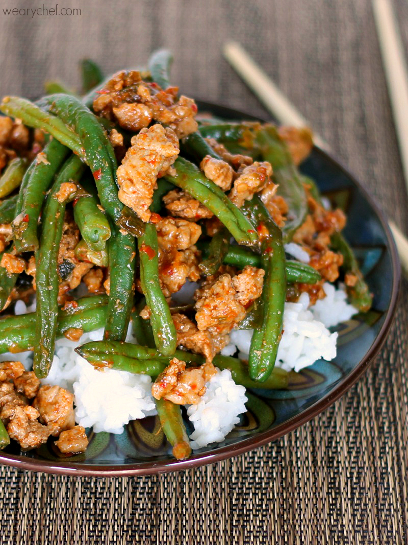 Favorite chinese green beans with ground turkey the for Easy things to make for dinner for two