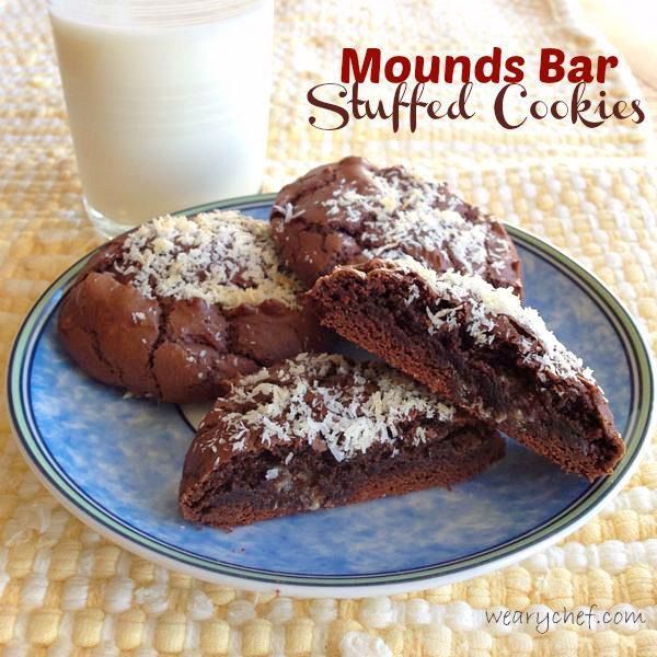 Mounds Bar Stuffed Cookies