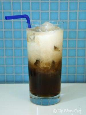 Nutty Root Beer Cocktail - Root beer, coconut rum, and cream make a tasty drink! | The Weary Chef