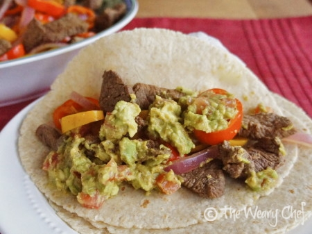 Margarita Fajitas by @wearychef