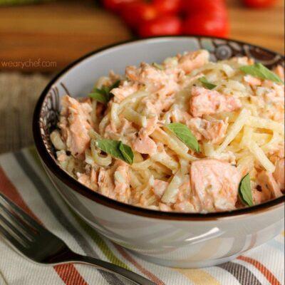 Perfect Salmon Alfredo