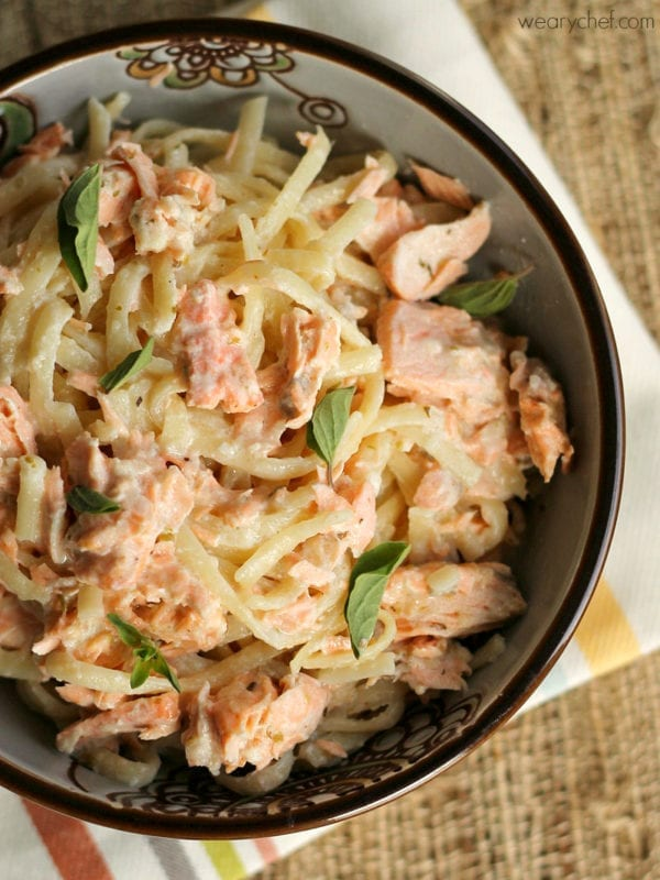 Cajun Salmon Alfredo - wearychef.com