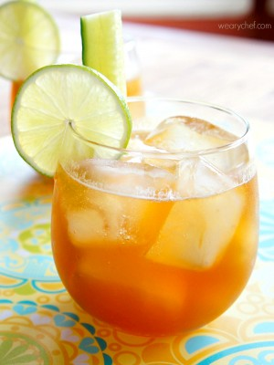 Ginger Lime Pimms Cocktail - wearychef.com