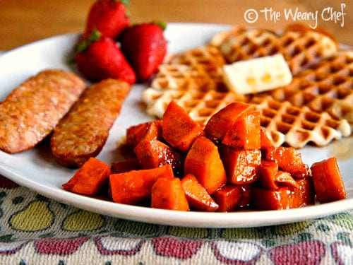 Glazed Sweet Potatoes - These delectable candied sweet potatoes are good any time of year! from @wearychef