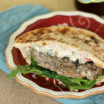 Gyros Burgers with Spicy Yogurt Sauce