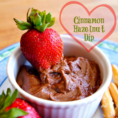 Cinnamon Nutella Dip: Takes 5 minutes and tastes like chocolate cheesecake!