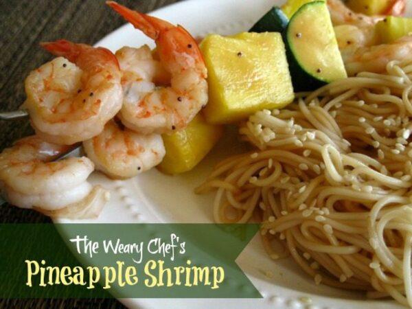 Easy Pineapple Shrimp Skewers or Stir Fry!