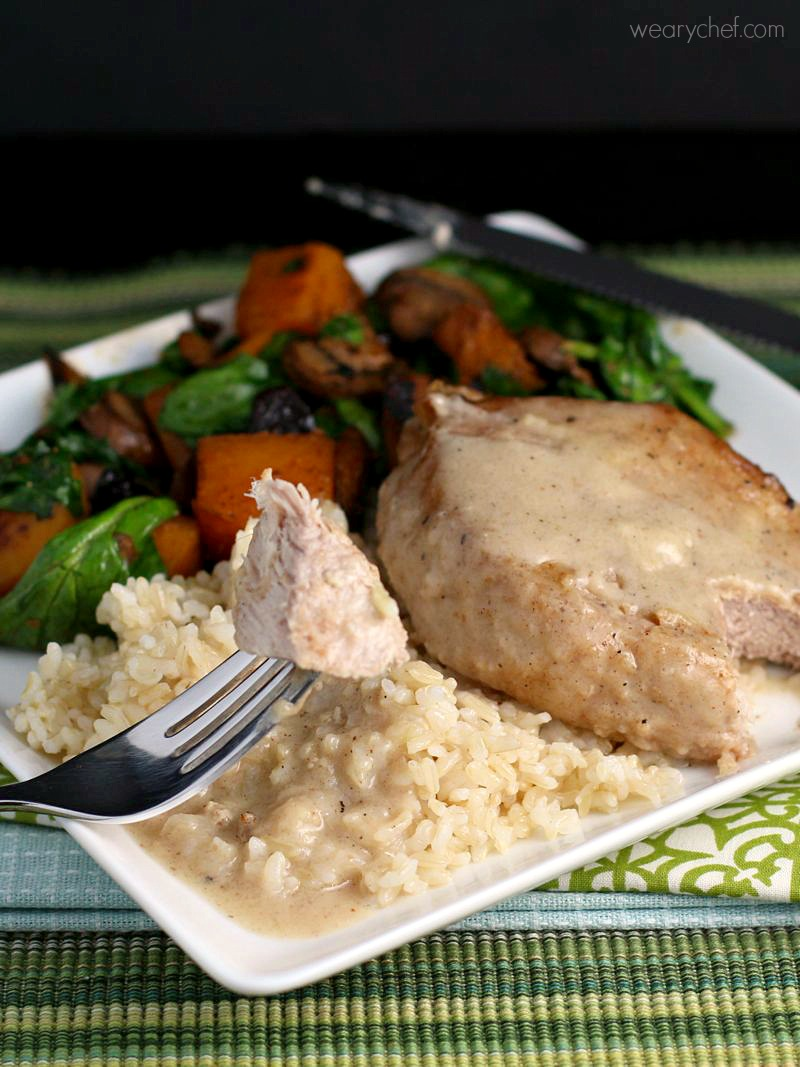 Pork Chops with Easy Milk Gravy - The Weary Chef