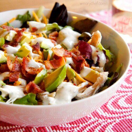 Ranch Turkey Club Salad - All the goodness of a club sandwich in a bowl! - wearychef.com