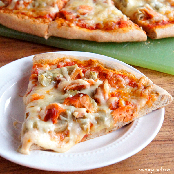 Smoked Salmon and Artichoke Pizza