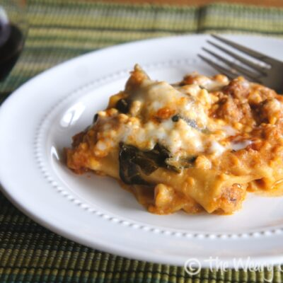 Slow Cooker Lasagna with Turkey and Spinach