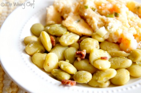 Simple Southern Lima Beans | The Weary Chef