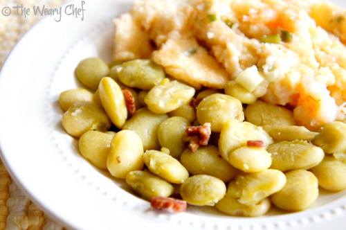 Simple Southern Lima Beans   The Weary Chef