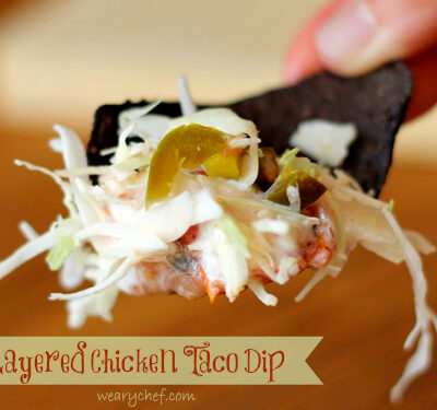 Layered Chicken Taco Dip