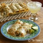 Spinach and Chicken Enchiladas Verdes
