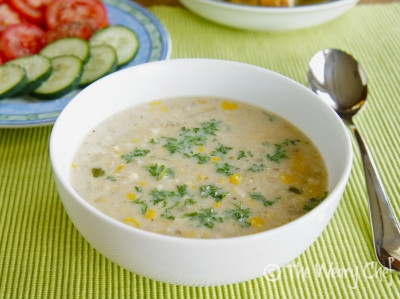 Crab and Corn Chowder with Bacon and Jalapeño - #Easy #dinner recipe for busy weeknights by @wearychef