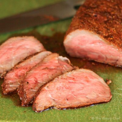 You'll love this well-seasoned, baked tri tip roast baked in your oven. A perfect way to serve steak to a crowd!