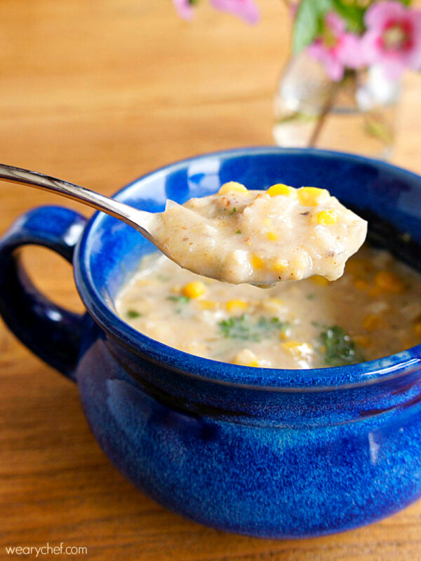 Crab and Corn Chowder with Bacon and Jalapeno - wearychef.com