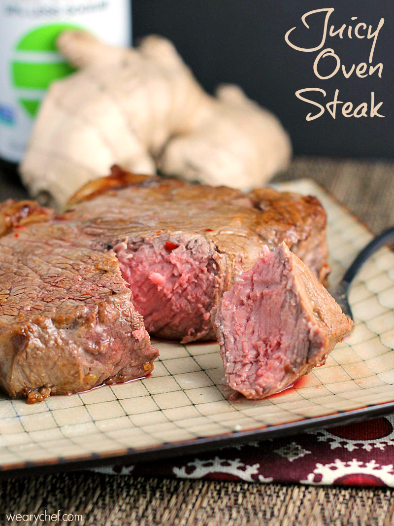 how to cook a thick steak in a pan