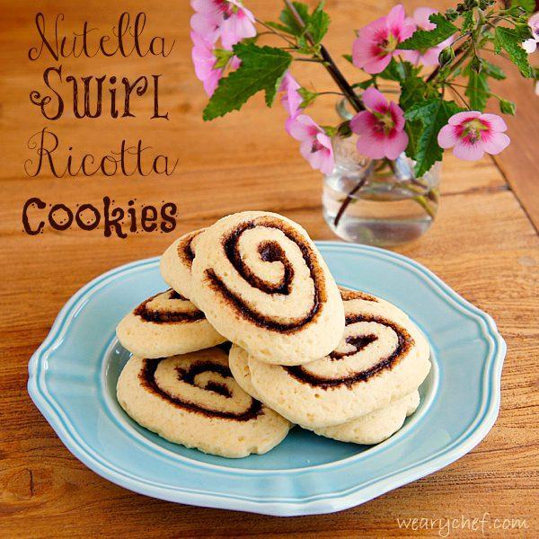 Nutella Swirl Ricotta Cookies