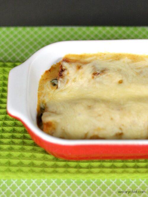 Spinach Chicken Enchiladas Verdes