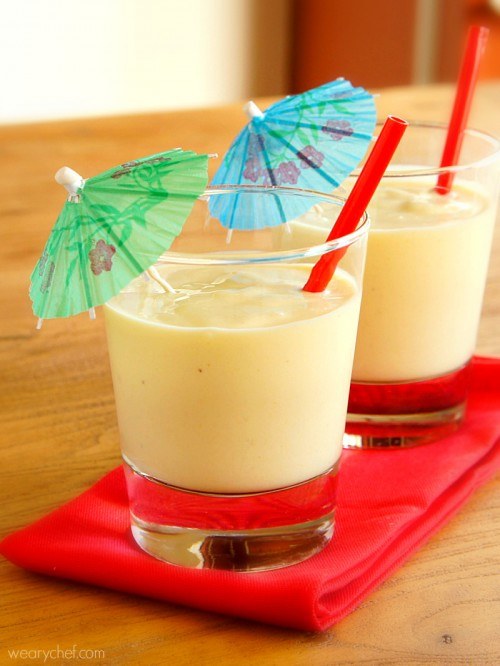 Tropical Smoothie with Mango and Pineapple - wearychef.com