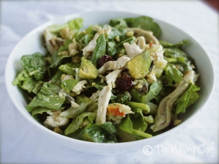 Chicken with Wild Rice Salad - Try something different with this #dinnersalad #recipe by @wearychef