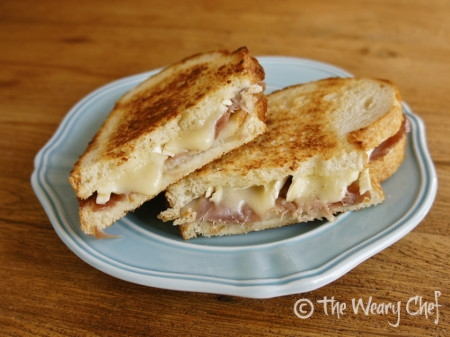 Fancy Pants Grilled Cheese Sandwich by @wearychef