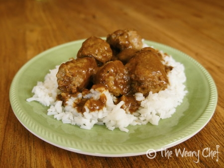 6-Ingredient Meatballs and Gravy by @wearychef
