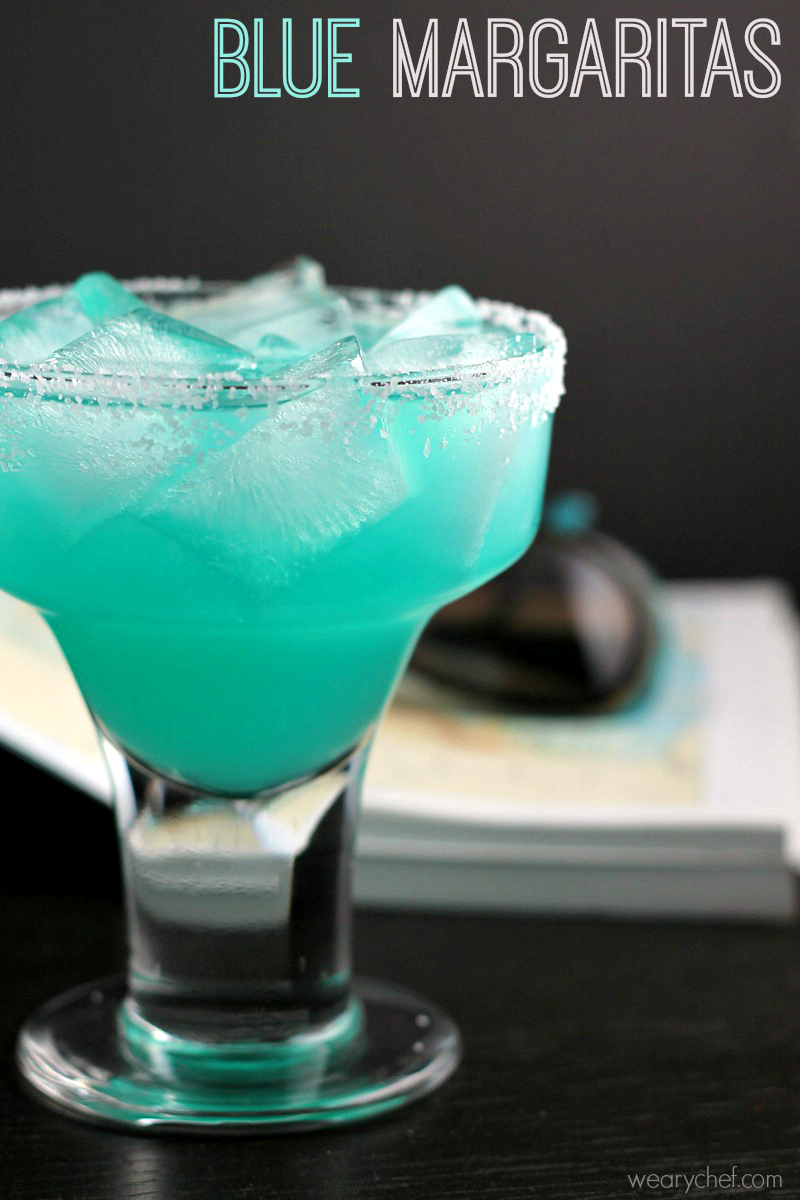 Blue margarita recipe the weary chef for Cocktail margarita