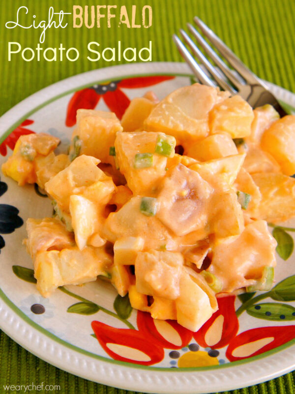 Light Buffalo Potato Salad - wearychef.com