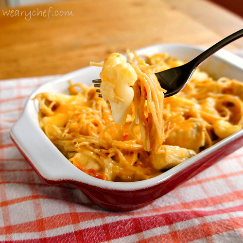 Easy Cheesy Chicken Spaghetti Great Weeknight Dinner The Weary Chef