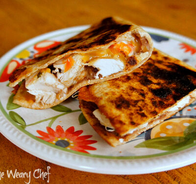 Chicken and Bean Quesadillas: A protein packed dinner!
