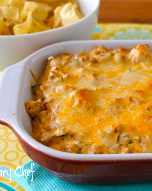Creamy Mexican Dip - Delicious #dip made with leftover taco meat and 3 other ingredients! wearychef.com
