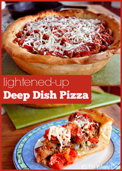 Lightened Up Deep Dish Pizza
