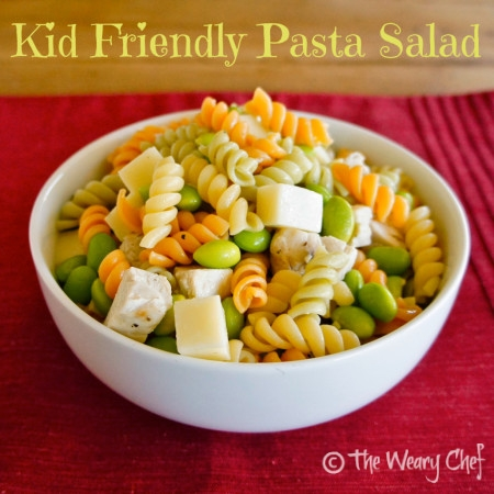 Kid Friendly Pasta Salad #easyrecipe #sidedish by @wearychef