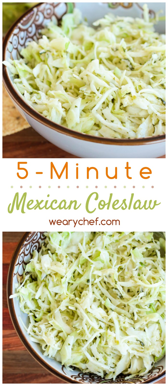 Mexican coleslaw in 5 minutes the weary chef this easy mexican coleslaw is a 5 minute side dish recipe perfect for dinner forumfinder Choice Image