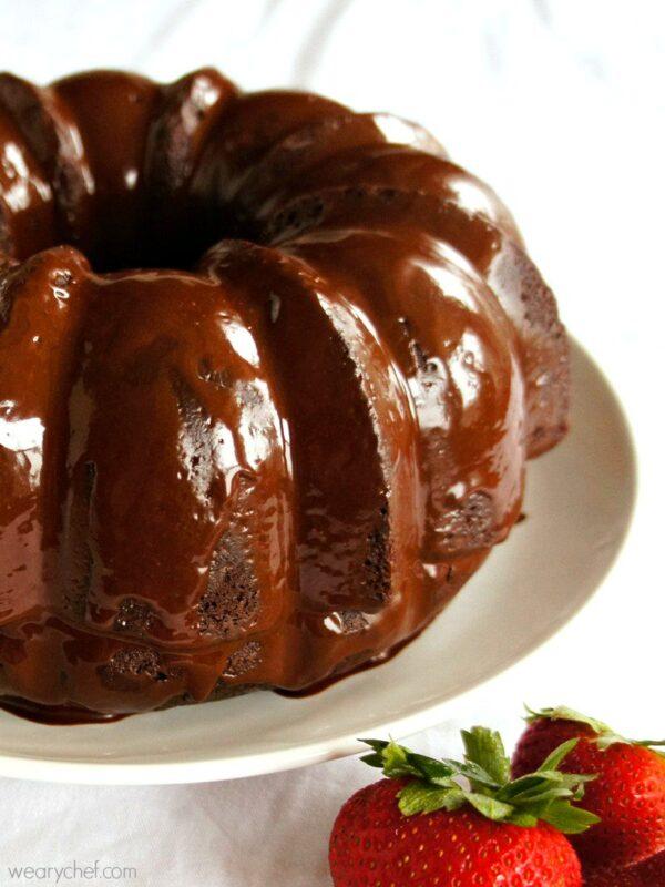 Easy Mocha Chocolate Glaze Icing - wearychef.com