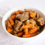 Slow Cooker Beef Tips over Rice: A quick and easy crockpot recipe!