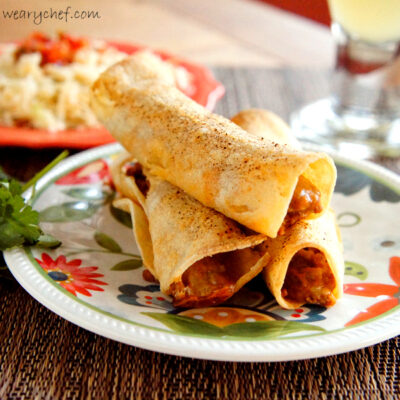 Baked Taquitos with Turkey and a Stowaway Vegetable