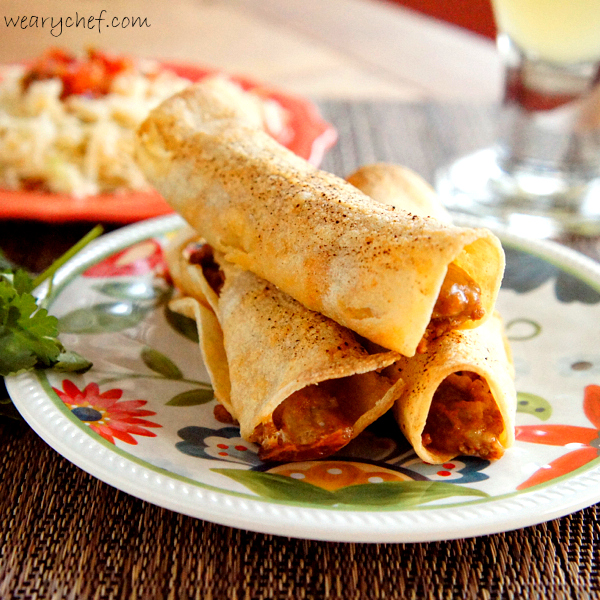 Baked Turkey Taquitos - #healthy #easy #Mexican recipe by @wearychef