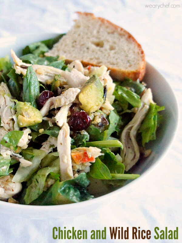 Chicken and Wild Rice Salad - Try something different with this hearty, delicious dinner salad! - wearychef.com