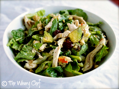 Chicken and Wild Rice Salad - Try something different with this #dinnersalad #recipe by @wearychef
