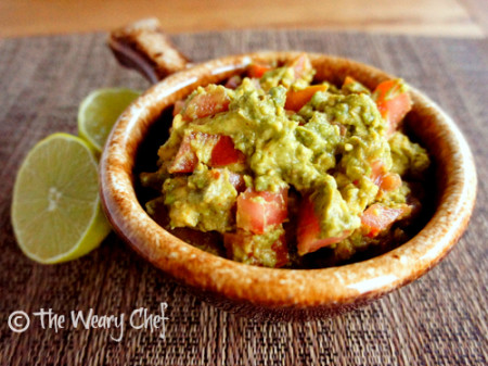 5-Minute Guacamole - Avocado, lime, tomato, and a few ingredients from your spice cabinet make a fast, tasty guacamole! | The Weary Chef