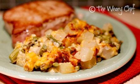 Cheesy Asparagus and Potato Bake | The Weary Chef