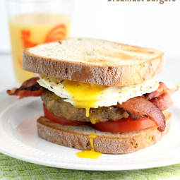 Bacon Egg and Cheese Breakfast Burger