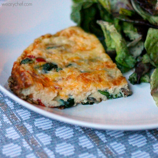 California Frittata with Spinach, Tomatoes, and Bacon - wearychef.com