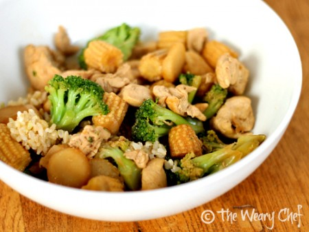 Easy Chinese Stir Fry - Kids love this dinner with chicken, vegetables, and rice! | The Weary Chef