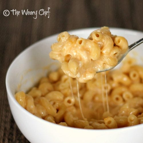 Creamy Easy Macaroni and Cheese - Stir cold ingredients with cooked ...