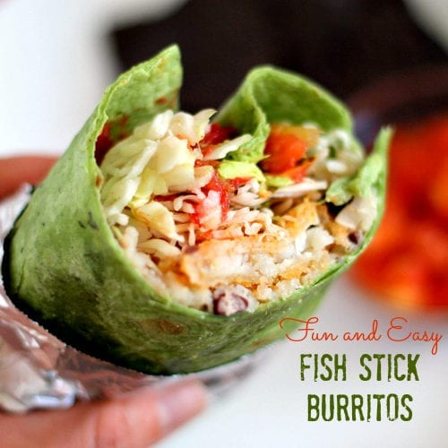 Easy Fish Stick Burritos | The Weary Chef #mexicanfood